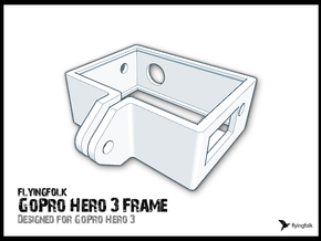GoPro Hero 3 Frame in White Strong & Flexible