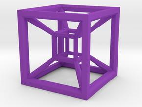 Tesseract in Purple Processed Versatile Plastic