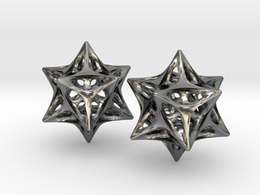 Softened Stellated Dodecahedron Star in Polished Silver