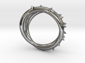 Rose Thorn Ring - Sz. 10.5 in Fine Detail Polished Silver