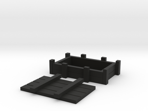 GI Crate For Shapeways in Black Natural Versatile Plastic