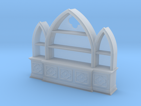 Gothic Bookshelf, version 3 in Smooth Fine Detail Plastic