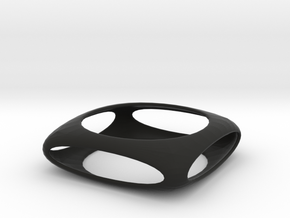 Bangle Box (Size M)  in Black Natural Versatile Plastic