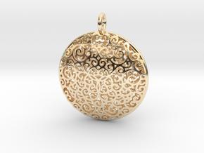 Fine Vine Pendant in 14k Gold Plated Brass