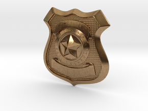 Zootopia Police Officer Badge in Natural Brass