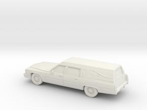 1/87 1985-89 Cadillac Hearse in White Natural Versatile Plastic