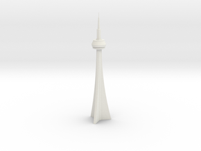 CN Tower (1/2000) in White Natural Versatile Plastic