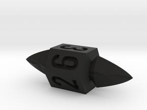 d6 Throwing Knife die in Black Natural Versatile Plastic