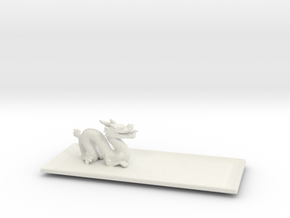 Dragon Plate  in White Natural Versatile Plastic