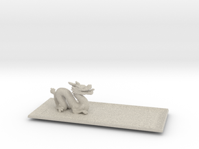 Dragon Plate  in Natural Sandstone