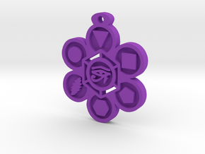 Stages of Creation Pendant in Purple Processed Versatile Plastic