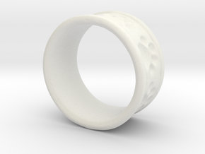 Dog Ring2 in White Natural Versatile Plastic