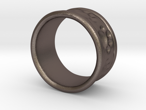 Dog Ring2 in Polished Bronzed Silver Steel