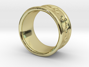 Dog Ring2 in 18k Gold Plated Brass