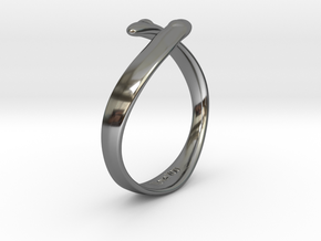 """I Love You"" Ring in Fine Detail Polished Silver"