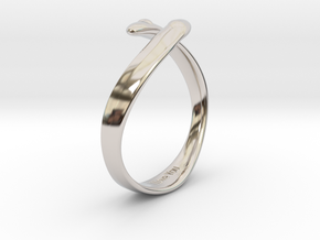"""I Love You"" Ring in Platinum"