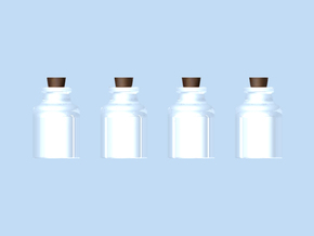 Four Bottles in Transparent Acrylic
