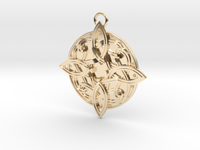 Amulat of Mara - NO GEM in 14k Gold Plated Brass