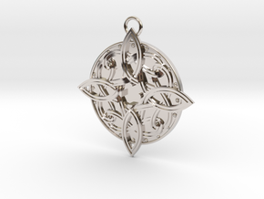 Amulat of Mara - NO GEM in Rhodium Plated Brass