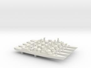 Kortenaer-class frigate x 5, 1/1800 in White Natural Versatile Plastic