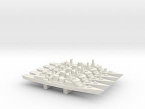 Kortenaer-class frigate x 5, 1/3000 in White Natural Versatile Plastic