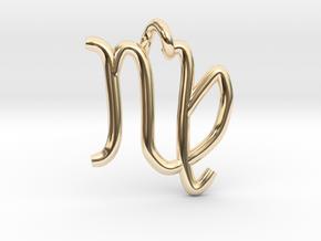Virgo (zodiac)- Pendant in 14k Gold Plated Brass
