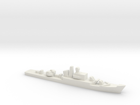 Riga-class frigate, 1/1800 in White Natural Versatile Plastic
