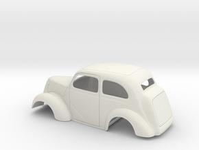 1/12 1949 Anglia Full Body Slammer in White Natural Versatile Plastic