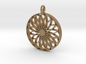 Pendant Model D in Matte Gold Steel