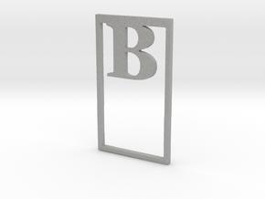 Bookmark Monogram. Initial / Letter  B  in Aluminum