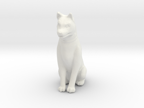 1/12 Husky Female Sitting in White Natural Versatile Plastic: 1:12