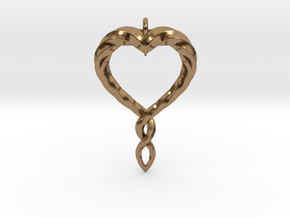 Twisted Heart New in Natural Brass