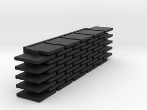 Set of 50 Matias Flat Keycaps for Steno in Black Natural Versatile Plastic