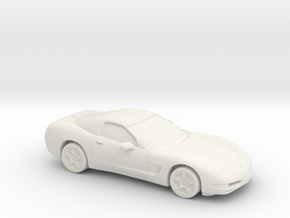 1/87 1997-02 Chevrolet Corvette C5 in White Natural Versatile Plastic