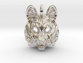 Siberian Husky Small Pendant in Platinum