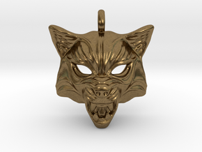 Fox Type 2 Small Pendant in Natural Bronze