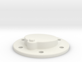 Journal Outtercap in White Natural Versatile Plastic