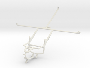 Controller mount for PS4 & Samsung Galaxy Tab S2 9 in White Natural Versatile Plastic