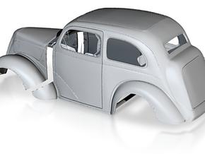 1/12 1949 Anglia Full Body Tilt Front in White Natural Versatile Plastic