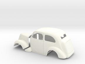 1/18 1949 Anglia Full Body Tilt Front in White Processed Versatile Plastic