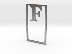 Bookmark Monogram. Initial / Letter F in Natural Silver
