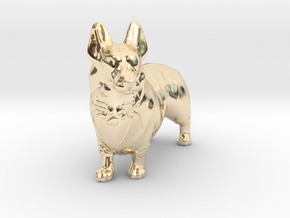 Spider Corgi in 14K Yellow Gold