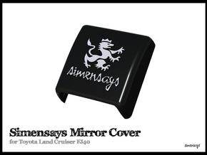 Simensays FJ40 Mirror Cover in White Processed Versatile Plastic