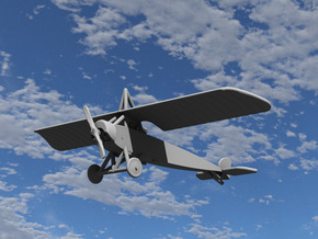 Morane-Saulnier Type L in White Natural Versatile Plastic: 1:144