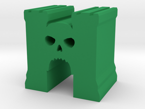 Game Piece, Skull Castle in Green Strong & Flexible Polished