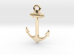 Anchor Pendant in 14K Yellow Gold
