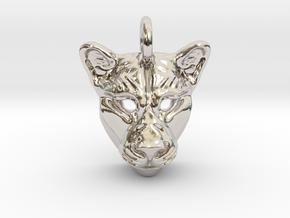 Lioness Pendant Small in Platinum