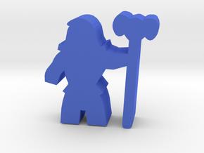 Game Piece, Skeleton Lord in Blue Processed Versatile Plastic