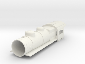 PRR E6 S Scale Basic, Empty Smokebox in White Natural Versatile Plastic
