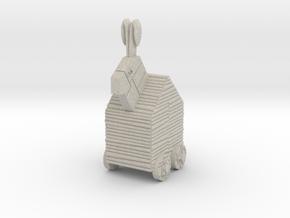 Trojan Rabbit Dice Tower in Natural Sandstone